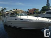 Attractive Hardly Utilized SeaRay Sundancer with only