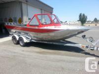 2004 Thunderjet 21' Aluminum Boat and EZloader Trailer