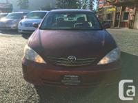 Make Toyota Model Camry Year 2004 Colour Red kms