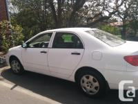 Make Toyota Model Corolla Year 2004 Colour WHITE kms