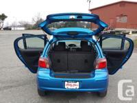 Make. Toyota. Design. Echo. Year. 2004. Colour. blue.