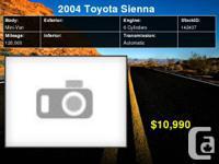 2004 Toyota Sienna CE 7-Passenger     Engine: