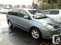Make Toyota Model Sienna Year 2004 Colour BLue kms