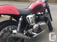 Make Triumph kms 36000 This bike is totally customized.