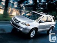 Make. Acura. Version. MDX. Year. 2005. Colour. Silver.