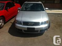 Hi this is my 2005 Audi s4 (B6) six-speed.  VERY LOW KM