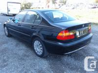 Make BMW Model 320i Year 2005 Colour Black kms 144000