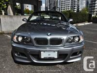2005 BMW M3 Cabriolet Silver Grey on Black Leather