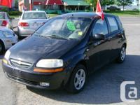 Make Chevrolet Model Aveo Year 2005 Colour Black kms
