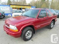 2005 Chevrolet blazer 2dr 100 xxxkms auto 4x4 a/c nice
