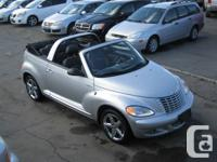 2005 PT CRUISER RARE GT CONVERTIBLE WITH A TURBO,