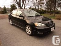 2005 Corolla XRS Sport model comes from the factory