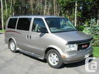 2005 GMC Safari Wheelchair buddy van, Braun Lift