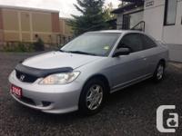 Make. Honda. Model. Civic Coupe. Year. 2005. Colour.