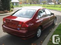 Make Honda Model Civic Sedan Year 2005 Colour RED kms