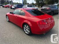 Make Infiniti Model G35 Coupe Year 2005 Colour Red kms, used for sale  British Columbia