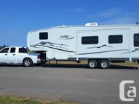 Beautiful fifth-wheel travel trailer with lots of