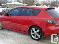 Make. Mazda. Version. 3. Year. 2005. Colour. Red. kms.