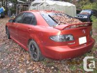 Parting out: 2005 Mazda 6. 3.0L V6, 225,000 kms, 5 spd