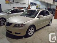 2005 MAZDA3, 4 DOOR, AUTOMATIC, LOW KMS.....105K ONLY,
