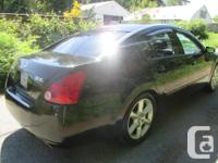 Make Nissan Model Maxima Year 2005 Colour BLACK kms