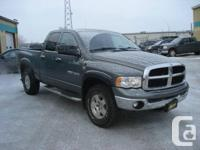 Make. Dodge. Model. Ram 1500. Year. 2005. Colour.