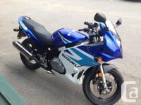 2005 Suzuki GS500F. Excellent condition. Never laid