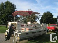 2005 SWEETWATER 18' PONTOON BOAT W/2005 MERCURY 60HP 4