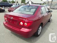 Make Toyota Model Corolla CE Year 2005 Colour Red kms