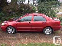 Make Toyota Model Corolla Year 2005 Colour Red kms