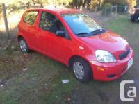 Make Toyota Model Echo Year 2005 Colour Red kms 175000