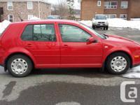 2005 Volkswagon Golf TDI (diesel). Car has 181000km and