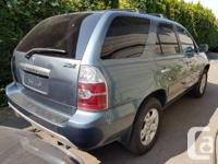 Make Acura Model MDX Year 2006 Colour blue kms 183000