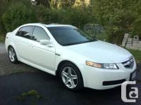 Pearl White 2006 Acura TL in great condition  PRICE: