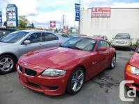 2006 BMW Z4 M Coupe 129,000KM 3.2L 6 Speed manual Fully