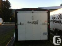 2006 7x14 cargo trailer  nice clean unit  rear drop