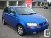 Make Chevrolet Model Aveo5 Year 2006 Colour BLUE kms