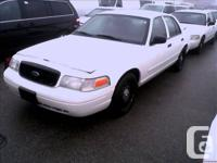 2006 Ford Crown Vic, ex police, white 187000kms from