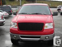 2006 FORD F150 XLT,4X4, RED ON GREY INTERIOR,CUSTOM