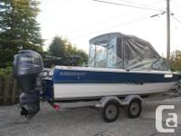 This 21 foot Harbercraft bonded watercraft is