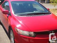 Make Honda Model Civic Coupe Year 2006 Colour Red kms