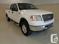 2006 Ford F-150 4x4 XLT White exterior in great