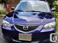 Make Mazda Model MAZDA3 Year 2006 Colour Navy kms