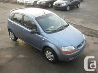 2006 PONTIAC WAVE 5, BLUE ON DARK GREY, 5 SPEED, TILT,