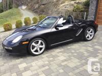 2006 Porsche Boxster Convertible --  Roadster. Black on