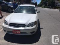 Make Subaru Model Legacy Year 2006 Colour White kms