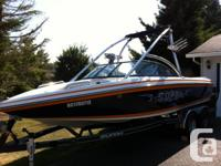 This is a wonderful boat for snowboarding, wakesurfing