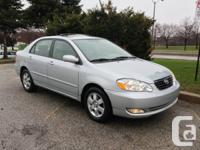 2006 TOYOTA COROLLA LE, AUTOMATIC,  1 OWNER, LOADED,