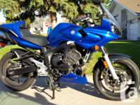 This 2006 Yamaha FZ6 only has 7440 KM's on it and in