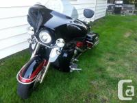 bike has custom fairing and lights with built in